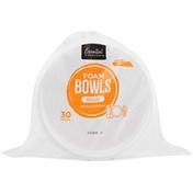 Essential Everyday Foam Bowls, Basic, 20 Ounces