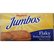 Hy-Vee Biscuits, Flaky, Butter Flavored, Jumbos