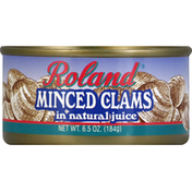 Roland Clams, in Natural Juice, Minced