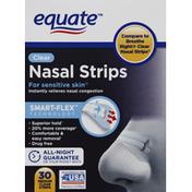 Equate Nasal Strips, Clear, Medium