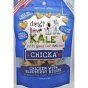 Dogs Love Kale Chicka' Chicken & Blueberry Dog Treats