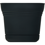Bloem Planter, Saturn Black, 10 Inch