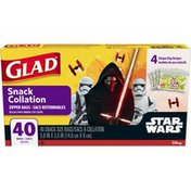 Glad Star Wars Zipper Food Storage Sandwich Bags