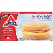 Atkins Canadian Bacon with Egg & Cheese English Muffin Sandwich