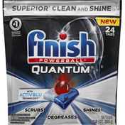 Finish Dishwasher Detergent, Automatic, Quantum, with ActivBlu, Tabs