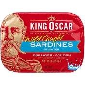 King Oscar Sardines in Spring Water
