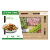 Home Chef Korean Pork Noodle Bowl With Green Beans And Fresno Chile