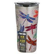 Tervis Tumbler, with Lid, Stainless, Dragonfly Mndla, 20 Ounce