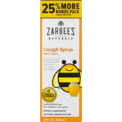 Zarbee's Naturals Zarbees Cough Syrup + Mucus, Dark Honey & Ivy Leaf, Natural Cherry Flavor, Naturals, Box