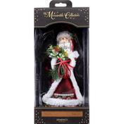 Demdaco Ornament, Blown Glass, Botanical Santa