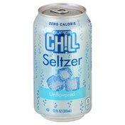 Super Chill Seltzer, Zero Calorie, Unflavored