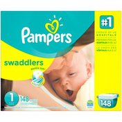 Pampers Swaddlers Pampers Swaddlers Newborn Diapers Size 1 148 count Diapers