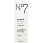 No7 Facial Oil, Replenishing, Youthful, All Skin Types