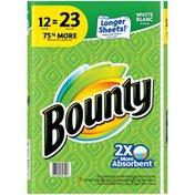 Bounty Paper Towels, White, 12 Jumbo Rolls = 23 Regular Rolls Towels/Napkins