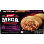 Banquet Mega Sandwiches Smoky BBQ Seasoned Pork