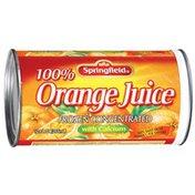Springfield 100% Orange Frozen Concentrated W/Calcium Juice
