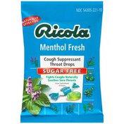 Ricola Menthol Sugar Free Cough Suppressant Throat Drops