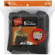 Hanes Socks, Cushion No Show, Men's