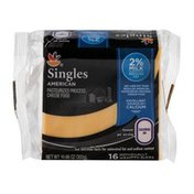SB Singles American Cheese 2% Milk Individually Wrapped Slices - 16 CT
