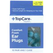 TopCare Comfort Foam Ear Plugs, Nrr 29