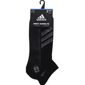 adidas Men's Superlite Stripe Low Cut Socks - 3 Pack - L - Black