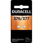 Duracell Batteries, Silver Oxide, 376/377