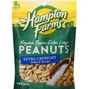 Hampton Farms Peanuts, Salted & Roasted, Extra Crunchy
