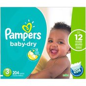 Pampers Baby-Dry Size 3 Diapers