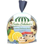 Sister Schubert's Lemon Blueberry Rolls with Vanilla Icing