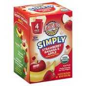 Earth's Best Freeze Dried Fruits, Simply, Strawberry, Banana & Apple, 12+ Months, Organic, Box