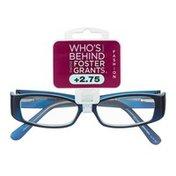 Foster Grants Non-Prescription Glasses Fashion +2.75 Kate BLU