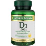 Nature's Bounty Vitamin D3, 25 mcg, Rapid Release Softgels