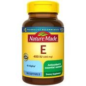Nature Made Vitamin E 180mg (400 IU) dl-Alpha Softgels
