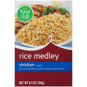 Food Club Chicken Flavored Rice & Vermicelli Mix With Chicken Broth & Herbs Rice Medley