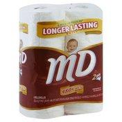 Md Bathroom Tissue, Unscented, Mega Rolls, 2-Ply