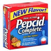 Pepcid Acid Reducer + Antacid, Chewable, Tropical Fruit Flavor