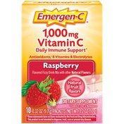 Emergen-C Vitamin C Fizzy Drink Mix Raspberry, Vitamin C Fizzy Drink Mix Raspberry