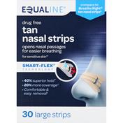 Equaline Nasal Strips, Tan, Large