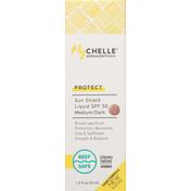 MyCHELLE Sun Shield Liquid, Medium/Dark, Protect, SPF 50