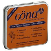 Oona For Cramps Associated with PMS, PMS2, Capsules