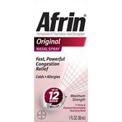 Afrin Nasal Spray, Maximum Strength, Original