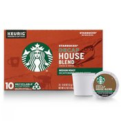 Starbucks Decaf K-Cup Coffee Pods — House Blend for Keurig Brewers