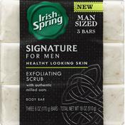 Irish Spring Body Bar, Exfoliating Scrub, Man Sized