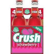 Crush Strawberry Soda Made with Sugar