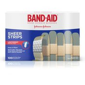 Band-Aid Brand Adhesive Bandages Sheer, All One Size