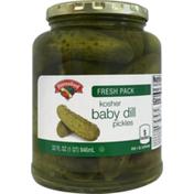Hannaford Fresh Pack Kosher Baby Dill Pickles