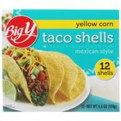 Big Y Mexican Style Yellow Corn Taco Shells