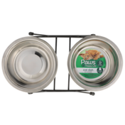 Paws Happy Life Stainless Steel Cat Dish