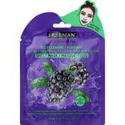 Freeman Sheet Mask, Tea Tree + Blackberry, Deep Clearing