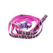 "Coastal Pet 5/8"" W X 6' L Lazer Brite Single Ply Nylon Reflective Dog Leash In Pink"